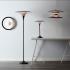 Détail disques en métal colorés lampes Diablo