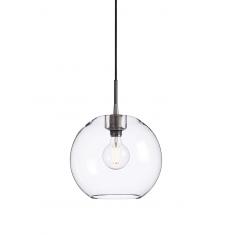 Lampe verre et métal Belid grise et transparente