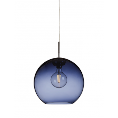 Suspension lampe Gloria chrome et bleue