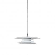 Luminaire aérien - Fin, épuré en métal blanc