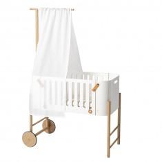Ciel de lit blanc pour berceau et cododo
