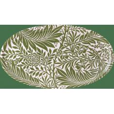 plateau oval bois couleur