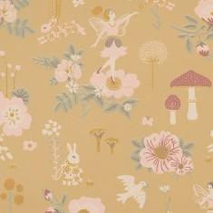Papier peint fleuri et écologique