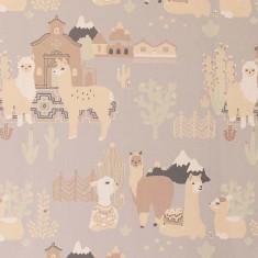 Papier peint enfant design, motifs lamas