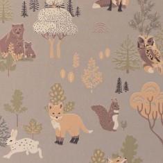 Papier peint intissé animaux dans la forêt