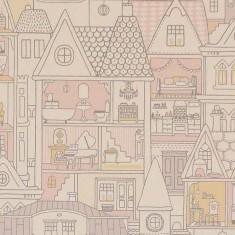 Papier peint maison de poupées à personnaliser