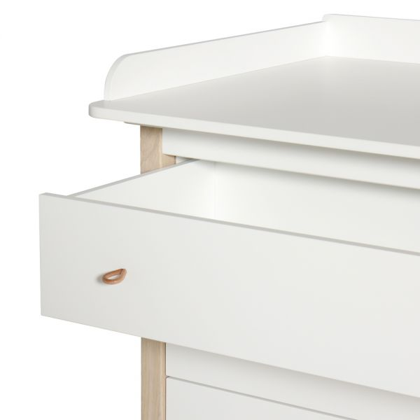 Commode table langer en bois oliver furniture design - Plan table a langer en bois ...