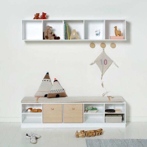 Meuble de rangement enfants ingénieux à fixer au mur ou à poser au sol