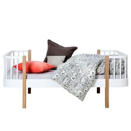 Lit extensible enfant en bois massif de ch ne et bouleau oliver furniture - Lit evolutif extensible ...