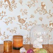 papier peint écologique vintage scandinave