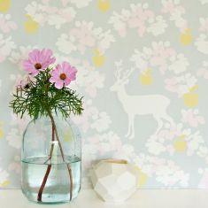 papier peint écologique biche apple garden