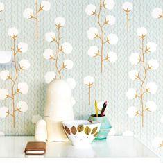 papier peints motifs coton couleurs pastel