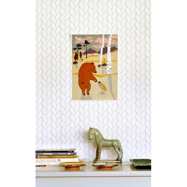 papier peint su dois au style r tro et chic. Black Bedroom Furniture Sets. Home Design Ideas