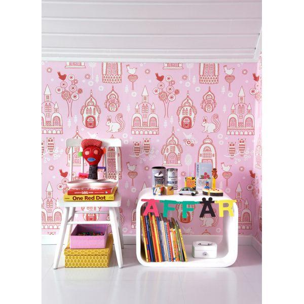 papier peint original et color pour chambres de filles. Black Bedroom Furniture Sets. Home Design Ideas