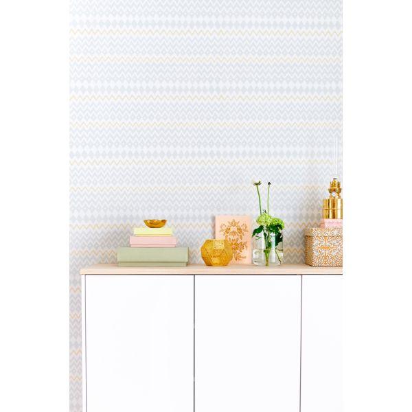 papier peint graphique en zigzag design cologique scandinave. Black Bedroom Furniture Sets. Home Design Ideas