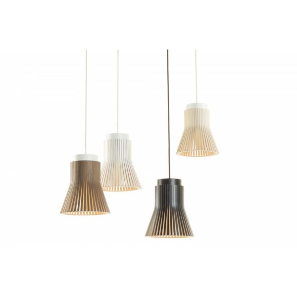 Lampe suspendre originale en bois de bouleau design for Lampe suspension bois