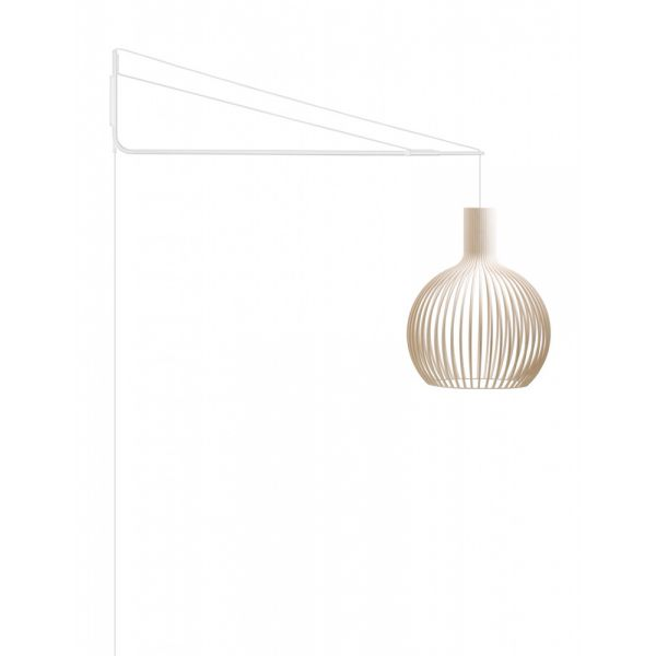bras de suspension mural pour lampes secto. Black Bedroom Furniture Sets. Home Design Ideas