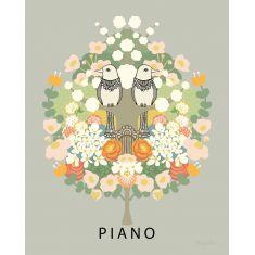 tableau pour enfant fleuri piano