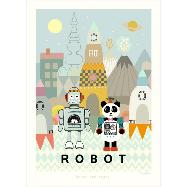 Poster Robot, décoration pour chambre de garçon