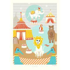 Poster cirque pour chambre d'enfants