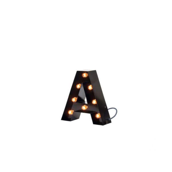 lampe lettre lumineuse top lampe de chevet design lettre. Black Bedroom Furniture Sets. Home Design Ideas