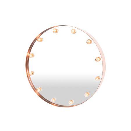Miroir lumineux design effet broadway - Miroir salle de bain lumineux castorama ...