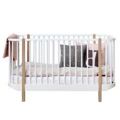 lit bébé évolutif Wood Oliver Furniture