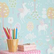 papier peint licorne chambre d'enfant