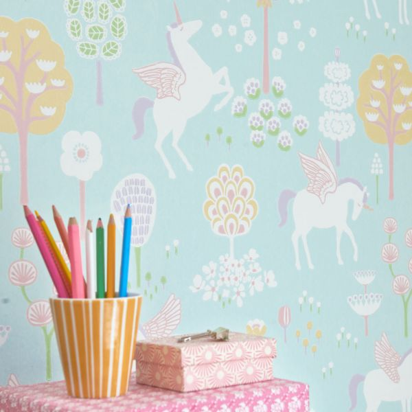 Papier peint licorne chambre b b fille design cologique for Decoration licorne chambre