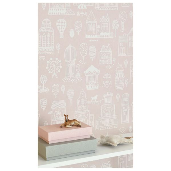 Papier Peint Graphique Pour Décorer La Chambre Denfants - Papier peint romantique chambre