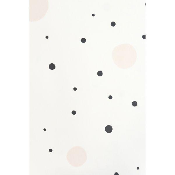 papier peint design moderne motifs pois aux accents seventies. Black Bedroom Furniture Sets. Home Design Ideas