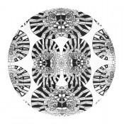 plateau design bois noir et blanc