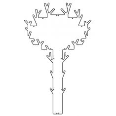 Grand portemanteau arbre en métal