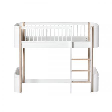 Lit mezzanine mi-haut Wood Mini +