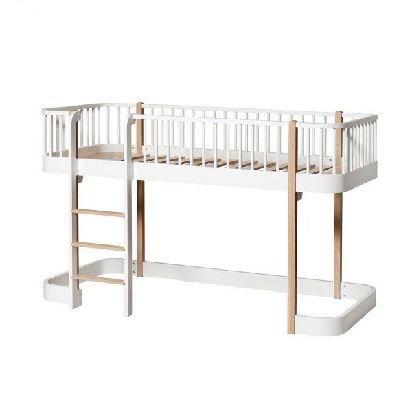 lit mezzanine enfant design en bois massif oliver furniture. Black Bedroom Furniture Sets. Home Design Ideas