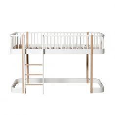 Lit mezzanine mi-haut Wood Oliver Furniture évolutif