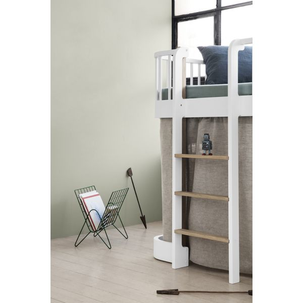 Lit mezzanine enfant design en bois massif oliver furniture - Mezzanine mi hauteur ...