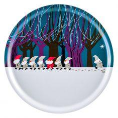 Plateau en bois motif Noël