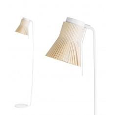 Lampadaire design avec abat-jour bois