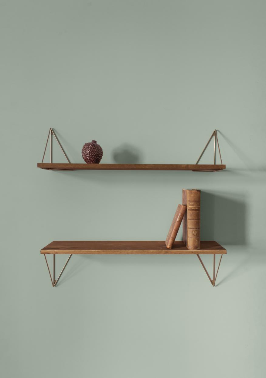 etagère pythagoras en bois et métal.