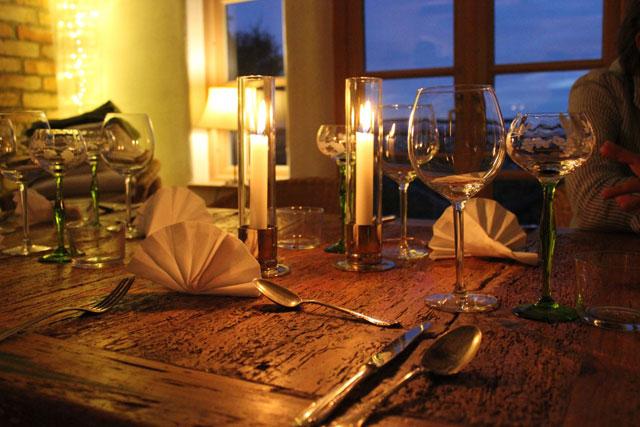 comment dresser une belle table de repas romantique