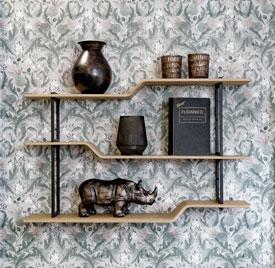 Etagère murale customisable en métal et bois