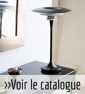 Lampe à poser noir en métal avec anneaux