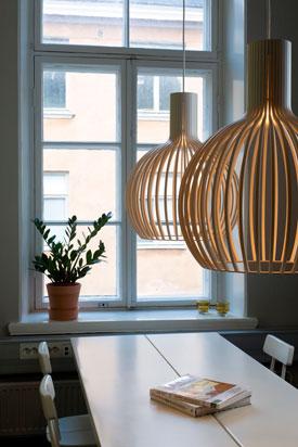 Lampe design nordique en bois