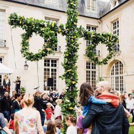 Midsommar à l'institut suédois à Paris