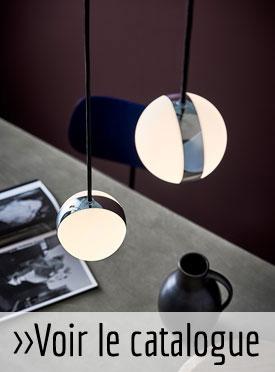 Lampe ronde à suspendre, design danois Herstal