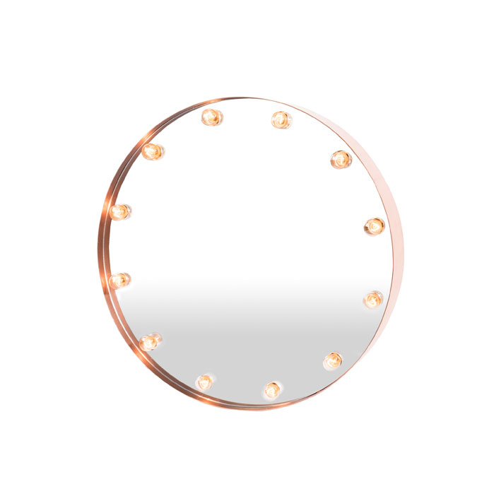 Cirkuslampan tritooshop for Miroir rond lumineux